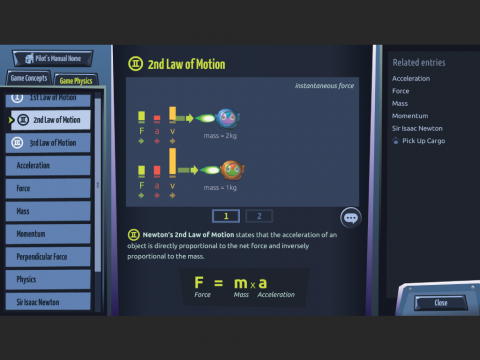 Game-based learning resource Motion Force