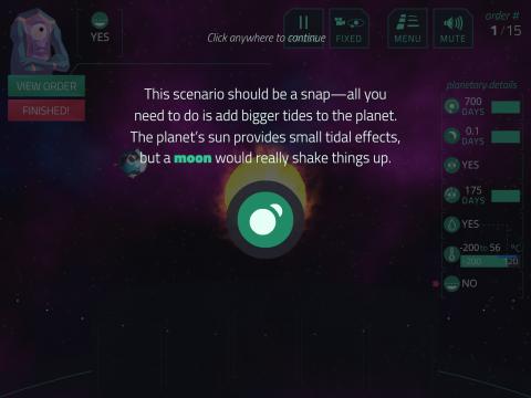 Educational Video Game Planet Mechanic