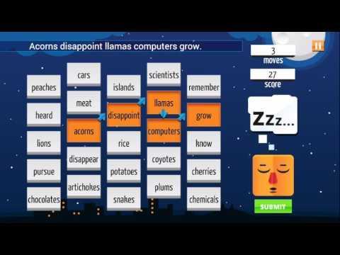 Sleep Furiously Grammar Learning Game Video