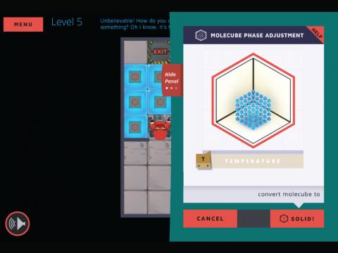 Molecubes States of Matter Learning Game Screenshot 3