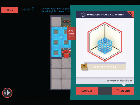 Molecubes States of Matter Learning Game Screenshot 3