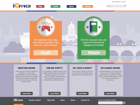 icivics project screenshot 1