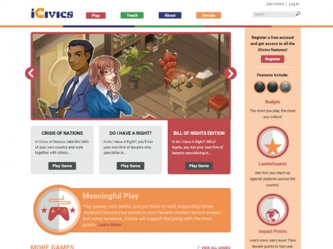 iCivics Project Screenshot 2