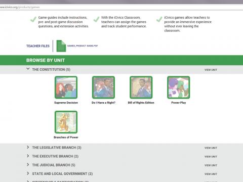iCivics Project Screenshot 4