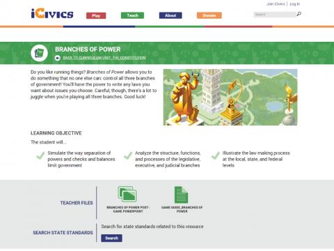 iCivics Project Screenshot 5