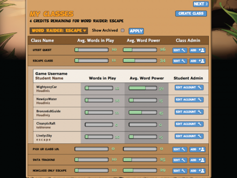 Digital Learning Game Word Raider